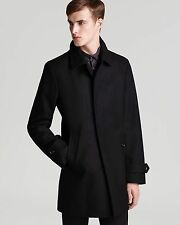 NWT Auth Men's Burberry London Carlson Black Wool Blend Pea Coat US Size 50 $995