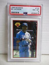 1989 Bowman Bo Jackson PSA NM-MT 8 Baseball Card #126 MLB