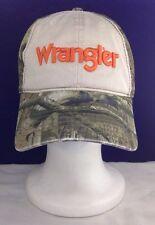 WRANGLER CAMO CAMOUFLAGE BUCKLE BACK HAT CAP