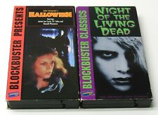 HALLOWEEN NIGHT OF THE LIVING DEAD VHS Blockbuster Video Horror Classics TESTED