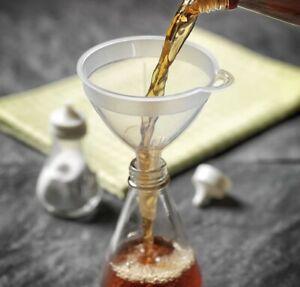 Liquid or Fine Grained Substances Channelling Transparent Plastic Funnel 8 cm