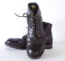 Frye® Logan Cap Toe Brown Waxed Veg Tan Boots Shoes American Collection 9.5M