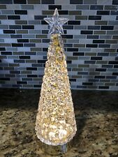 New Bath & Body Works GOLD Christmas Tree LIGHT UP WATER SWIRLING GLITTER