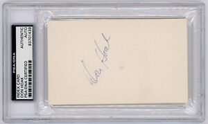 Don Hoak Signed Index Card PSA / DNA Certified Authentic