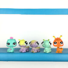 Lot 5 Mini Littlest Pet Shop Baby Caterpillar Worm Worms Inch LPS / Chenille