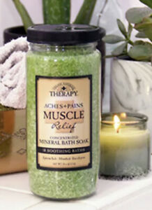 Village Naturals Therapy Aches And Pains Muscle Relief Mineral Bath Soak 20 Oz
