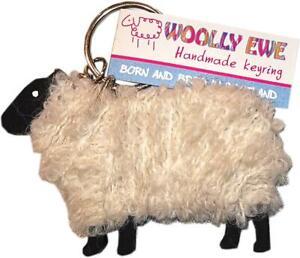 Hairy Coo Woolly Ewe Key Ring Lewis