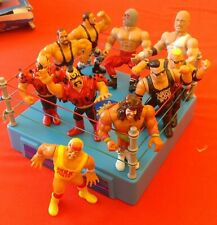 Wrestling Toys Bundle - Ring + Mixed Figures including 8x WWF and 2x generic