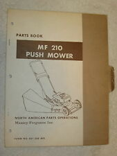 ORIGINAL MASSEY FERGUSON MF 210 PUSH MOWER PARTS BOOK MANUAL
