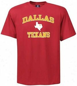 Dallas Texans NFL Licensed Heart And Soul Mens Shirt Red Big Sizes