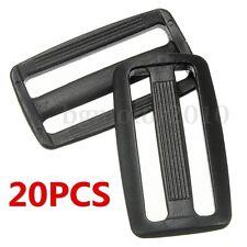 20pcs Plastic 3 Bar Slides Tri Glide Fasteners Buckles For 50mm Webbing Strap US
