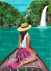 ACEO Original Painting Art Card Acrylic 100% Hand Painted