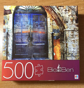 """Big Ben MB Puzzle Hasbro Spinmaster 500 Pc Old Greek Street 18"""" By 24"""""""
