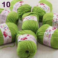 Sale lot 8 Skeins x50g Cashmere Silk Wool Children hand knitting Crochet Yarn 10