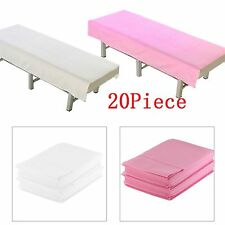 Pack of 20 Massage Beauty Waterproof Disposable Bed Table Cover Sheets 80X180cm