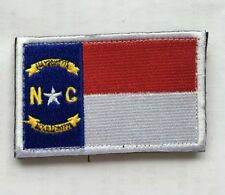 North Carolina Flag Usa Army Morale Badge Embroidery Hook & Loop Patch