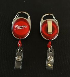 Milwaukee Power Tools ID Badge Clip w/ retractable cord M12 M18