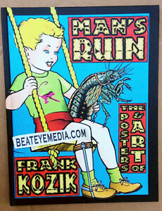 KOZIK-BOOK-PUNK ROCK-Concert Poster-Fillmore-RAMONES-Bill Graham-COOP-COMIC ART