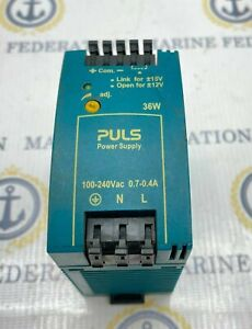 PULS ML30.106 DC Power Supply Switching 36 W 2 Output 12V 2.8A 264 VAC Input