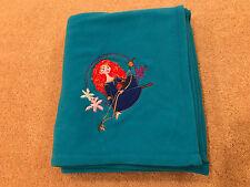 Disney store brave merida fleece blanket throw 50�x64� turquoise blue
