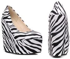 High (3 in. to 4.5 in.) Wedge Animal Print Heels for Women