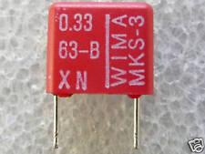 10 condensateurs Wima MKS3 0,33uF 330nf 63V 10%
