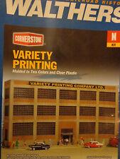 "Walthers Cornerstone N #3252 Variety Printing 7-7/16 x 1-5/8 x 4"" 18.5 x 4 x 10c"