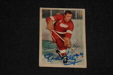 HOF RED KELLY 1953-54 PARKHURST SIGNED AUTOGRAPHED CARD #40 RED WINGS
