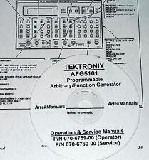 Tek Afg5101 Afg5501 Service & Operators Manuals 2 Vols.