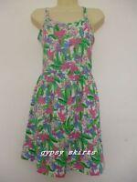 Primark Green Floral Mini Cover up Bikini Swim Beach Summer Cross Back Dress
