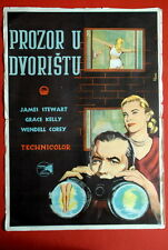 REAR WINDOW ALFRED HITCHCOCK GRACE KELLY 1954 J.STEWART UNIQUE EXYU MOVIE POSTER