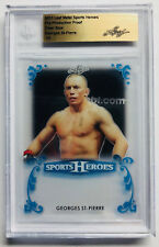 2017 Leaf Metal Sports Heroes Proof 1/1 Blue Acetate Georges St-Pierre UFC MMA