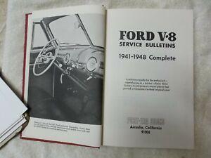 1941--1948 Ford V-8  Complete Service Bulletins Book.