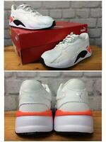 PUMA UK 1.5 EU 34 RS-X RADIENCE WHITE ORANGE BLACK TRAINERS MESH CHILDRENS