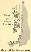 1930s Home Cafe Cripple Creek Colorado postcard 6326