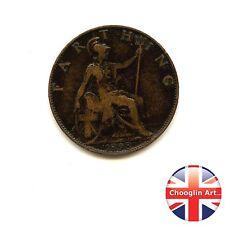 A 1898 British Bronze  VICTORIA FARTHING Coin                  (Ref:1898_348/9)