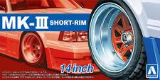 14 Zoll Mark MK-III Short Rim Felgen & Reifen Set 1:24 Model Kit Aoshima 055458