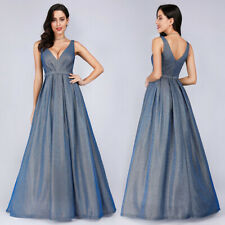 Ever-pretty Long A-line Cocktail Party Dresses Formal Evening V-neck Prom Gowns