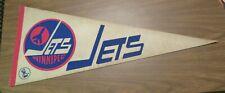 VINTAGE NHL 1970'S FULL SIZE PENNANT - WINNIPEG JETS