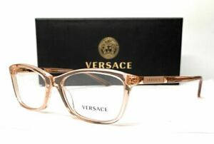 VERSACE VE3186 5215 Transparent Brown Demo Lens Women's Eyeglasses 54 mm