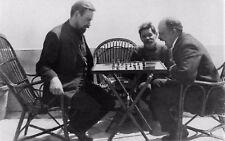 Lenin, Bogdanov & Gorky Capri Chess Communism 1908 7x4 Inch Reprint Photo