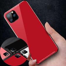 Fr iPhone 11 Pro Max Luxury Metal Rubber Bumper Back Gorilla Glass Case Cover