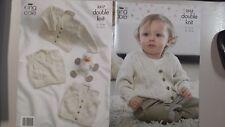 King Cole Knitting Pattern #3517 Cardigan Waistcoat & Slipover to Knit
