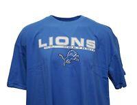 Detroit Lions NFL Team Apparel Sky Blue T-Shirt w/ Team Logo Big & Tall, nwt