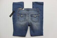 Women's Apt. 9 Mid Rise Bootcut Blue Jeans (WAPR345019W1-402) Mile Wash - Size 2