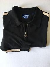 Mens Callaway Golf Sport 1/4 Zip Pullover Sweater Black Size Large