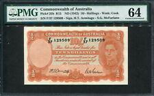 Australia 1942, 10 Shillings, P25b, PMG 64 UNC