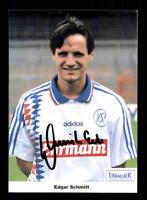 Edgar Schmitt Autogrammkarte Karlsruher SC 1995-96 Original Signiert + A 194515