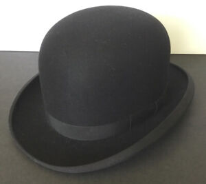 ANTIQUE BOWLER DERBY HAT-CAVANAGH Ltd PARK AVE NY-SIZE 7  1/8