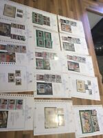 Commonwealth stamps  QE2 collection 15 leaves mnh mint **qe15